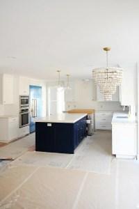 Navy blue kitchen island 2
