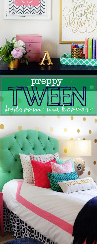 Preppy tween bedroom makeover 410x1024
