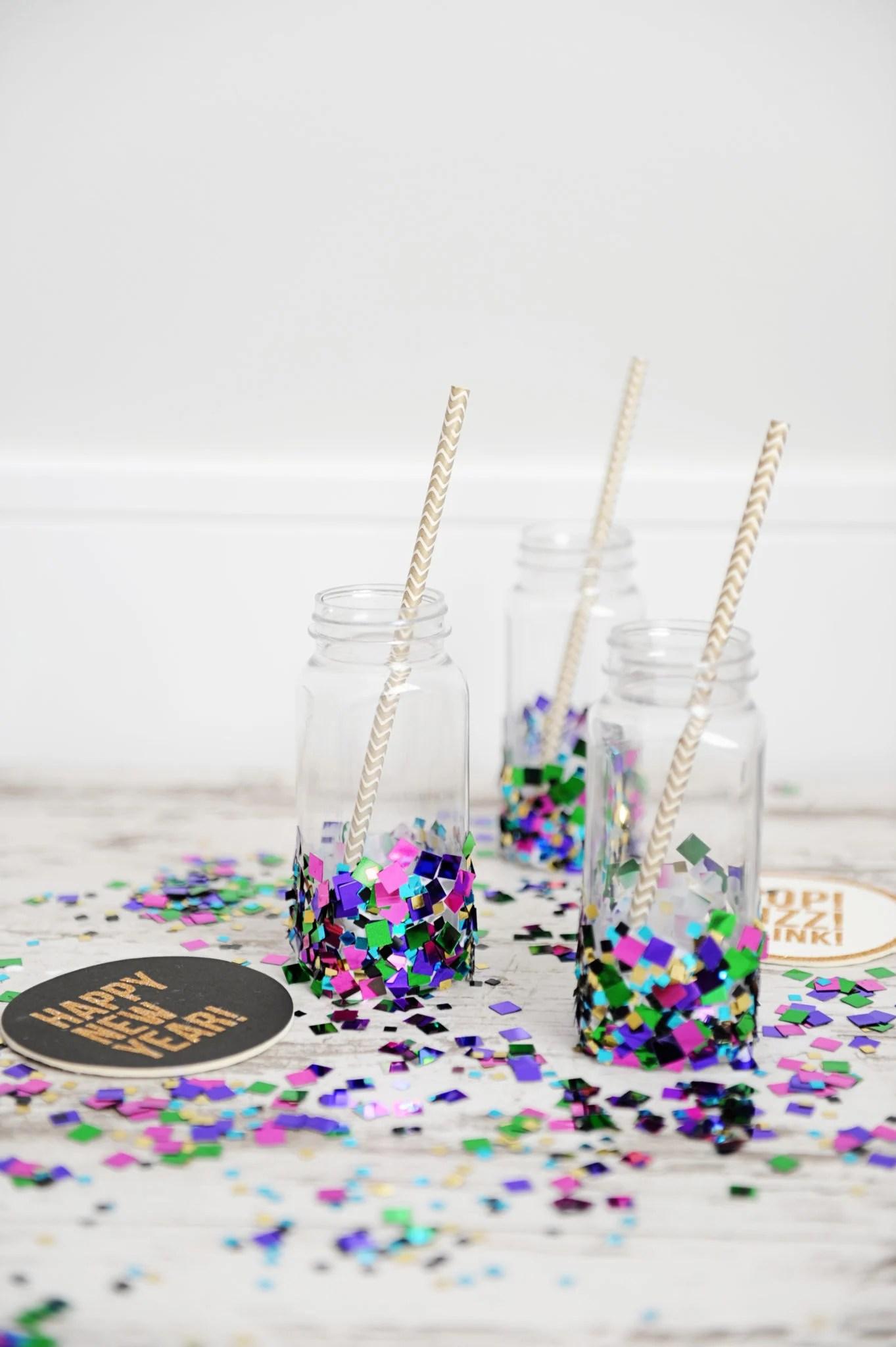 diy party ideas confetti bottles