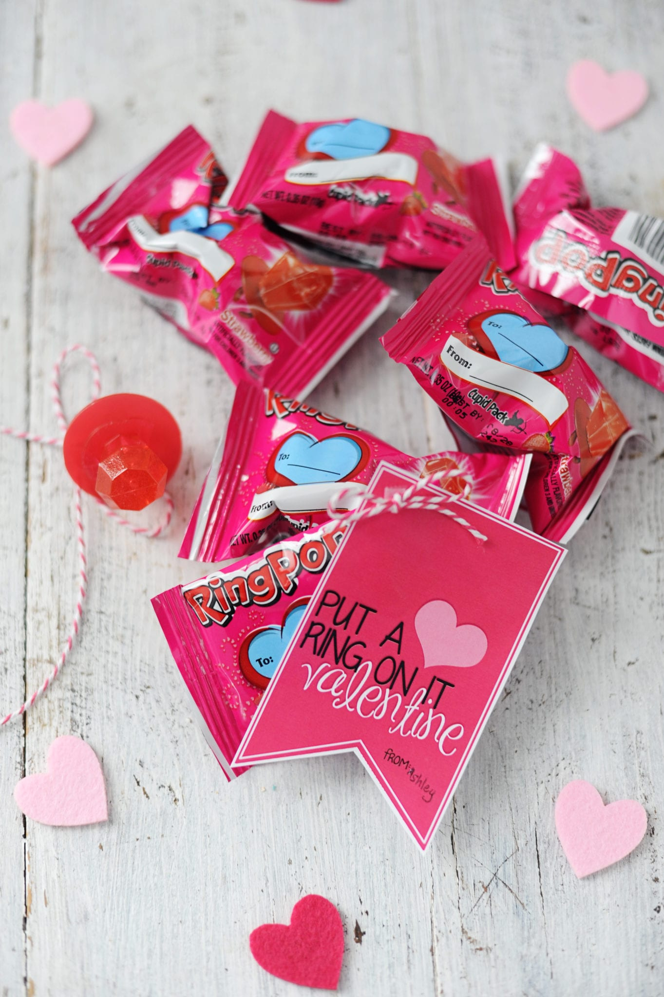 """Put a Ring on It"" Free Printable Valentine by Tammy Mitchell"
