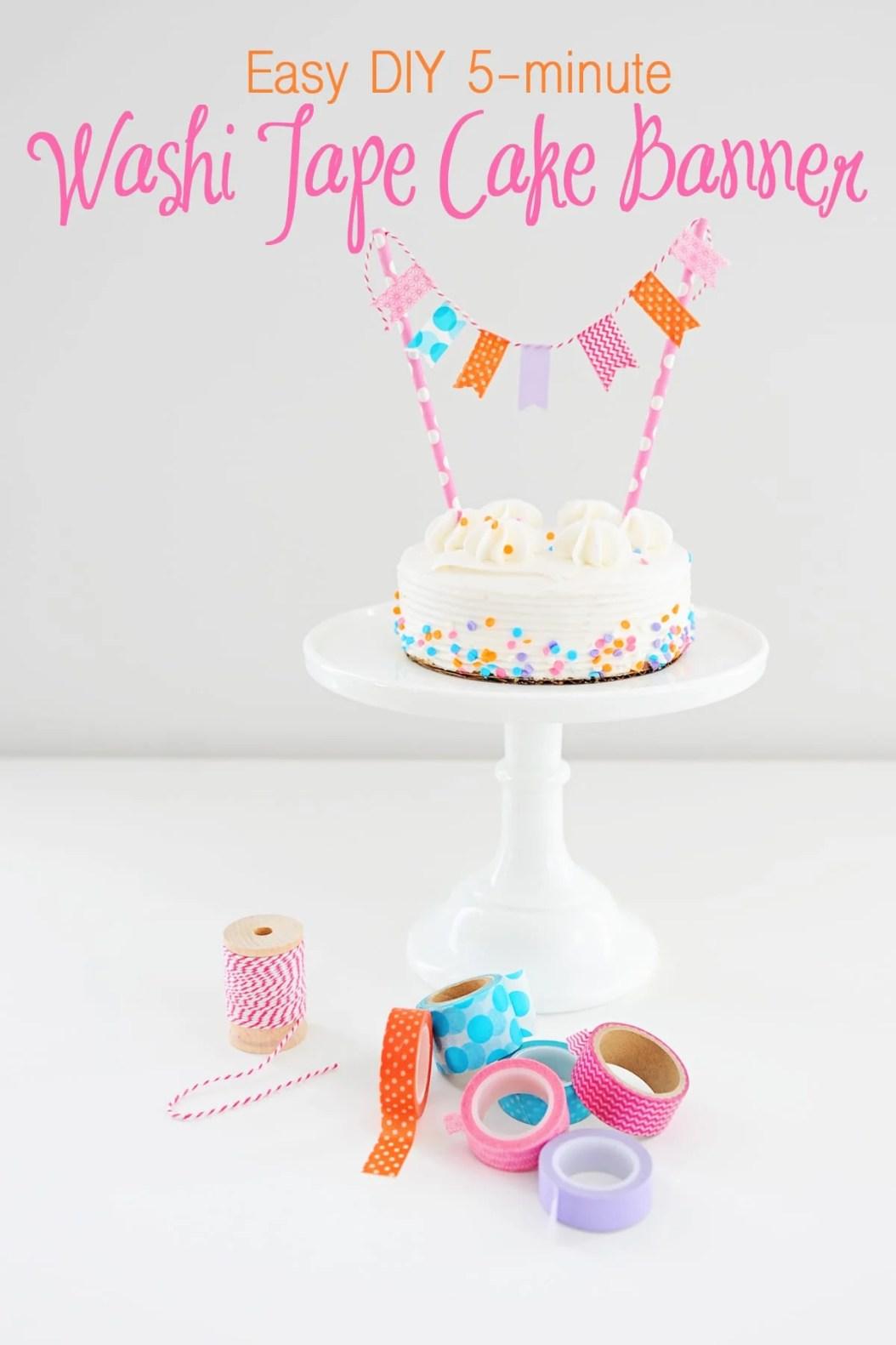 Washi Tape Craft Ideas Easy Diy Washi Tape Cake Banner Pink
