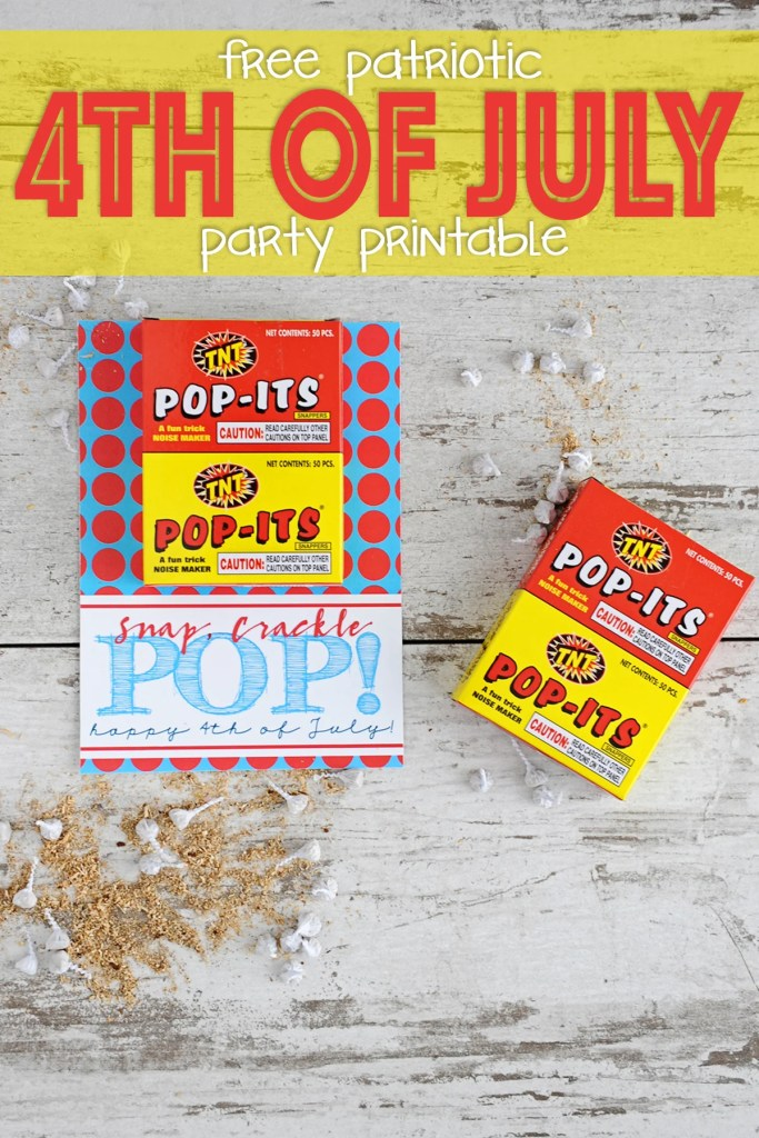 Free 4th of july party printable