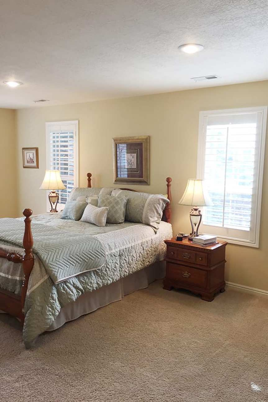 master bedroom remodel before and after
