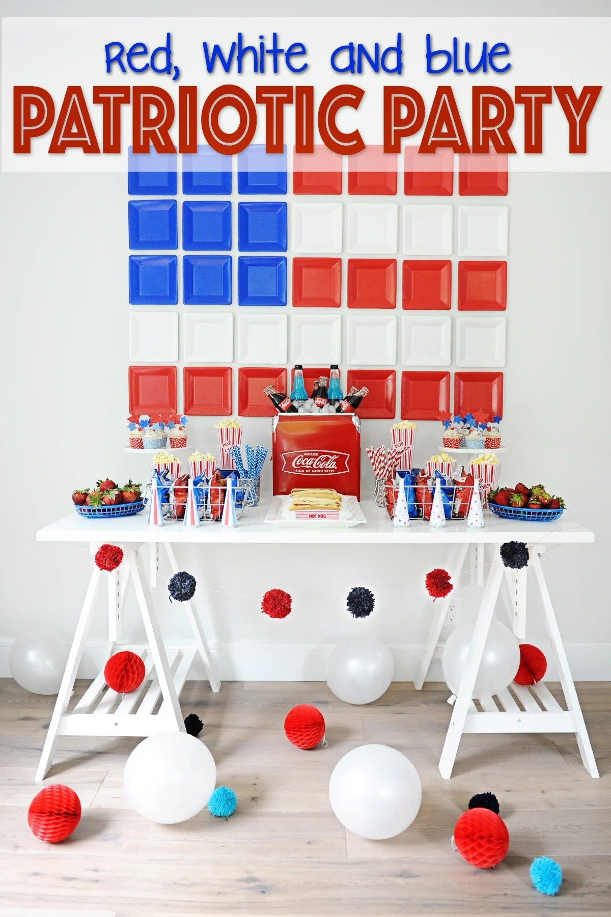 Patriotic Party Decorating Ideas : Red, White and Blue Party