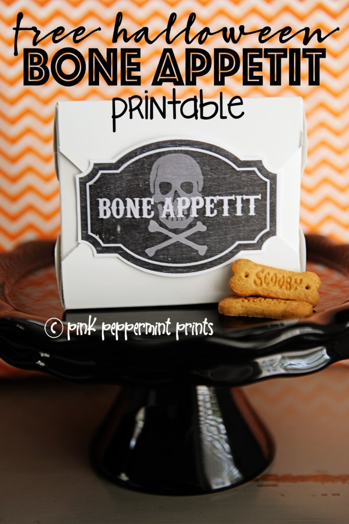 Bone appetit halloween printable