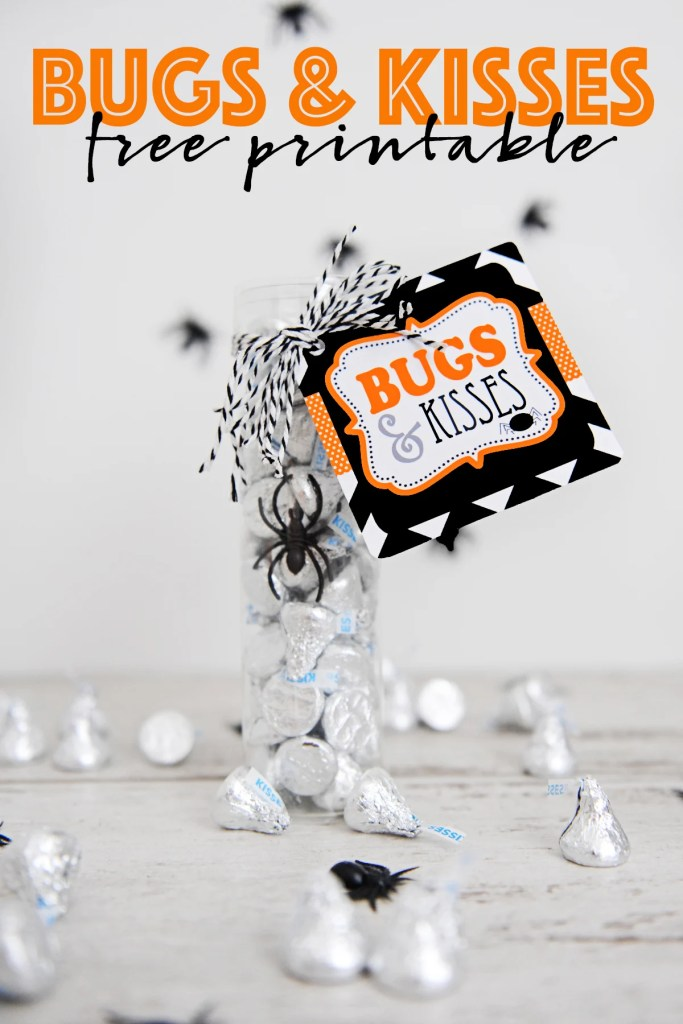 Cute Bugs and Kisses Printable for Halloween
