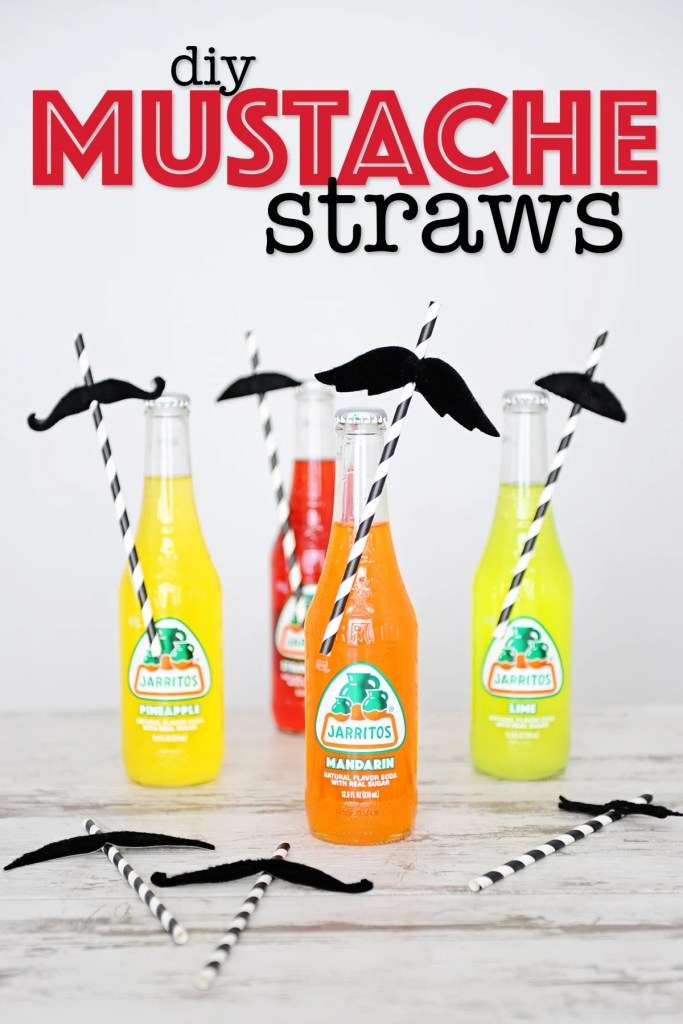 Fun and Easy DIY Mustache Straw Toppers