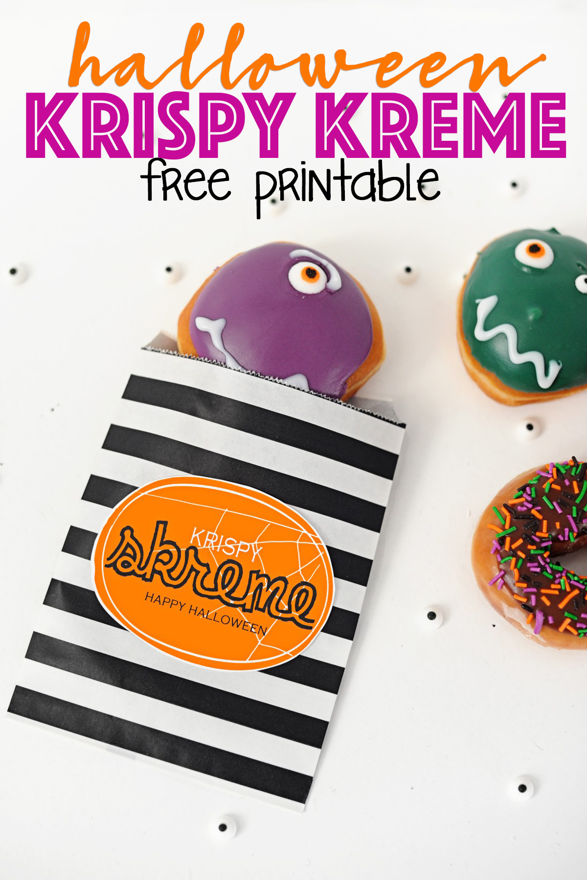 Free Halloween Printable : I Scream, You Scream, We all Scream for Krispy sKreme