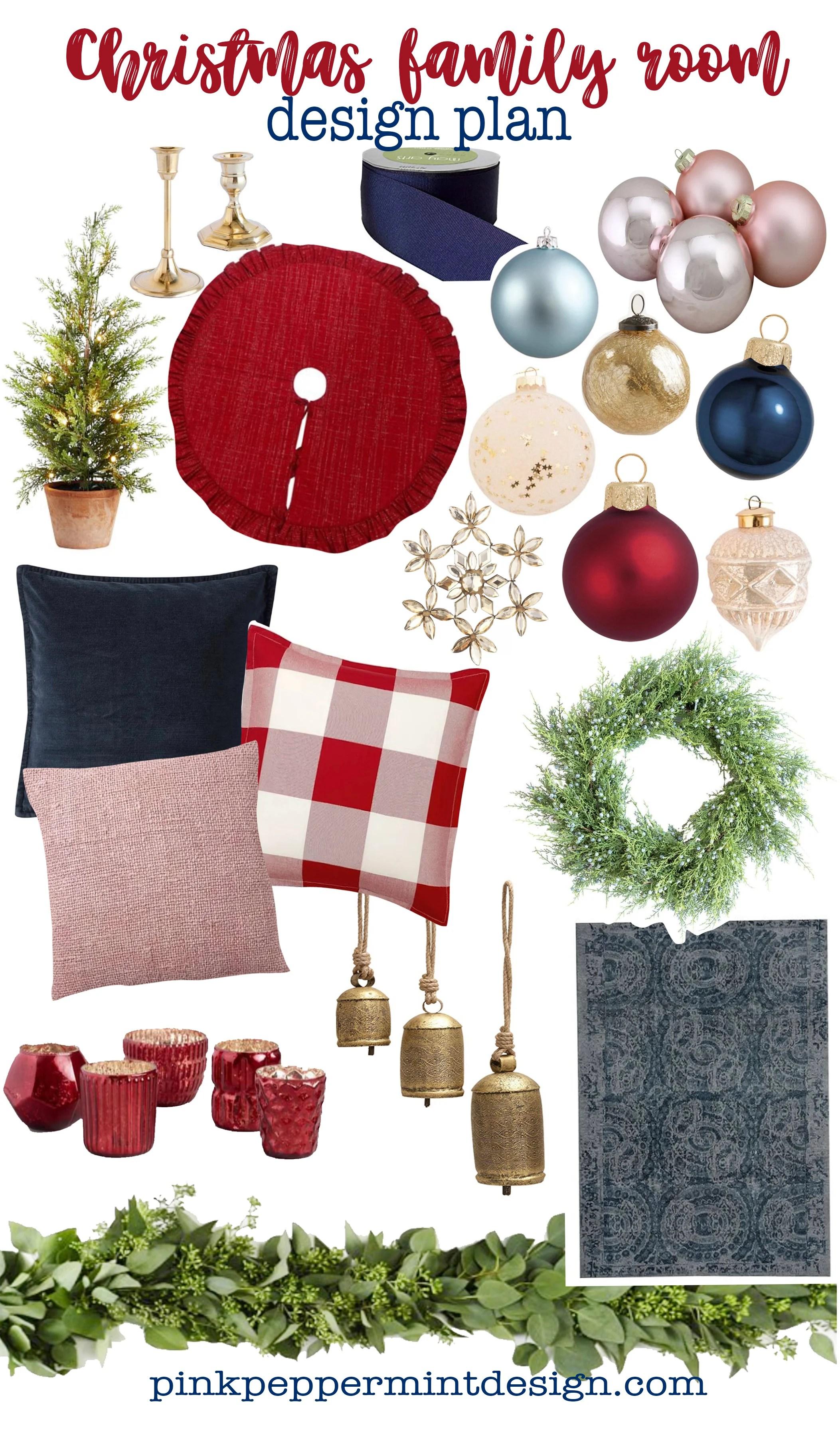 Christmas family room design plan