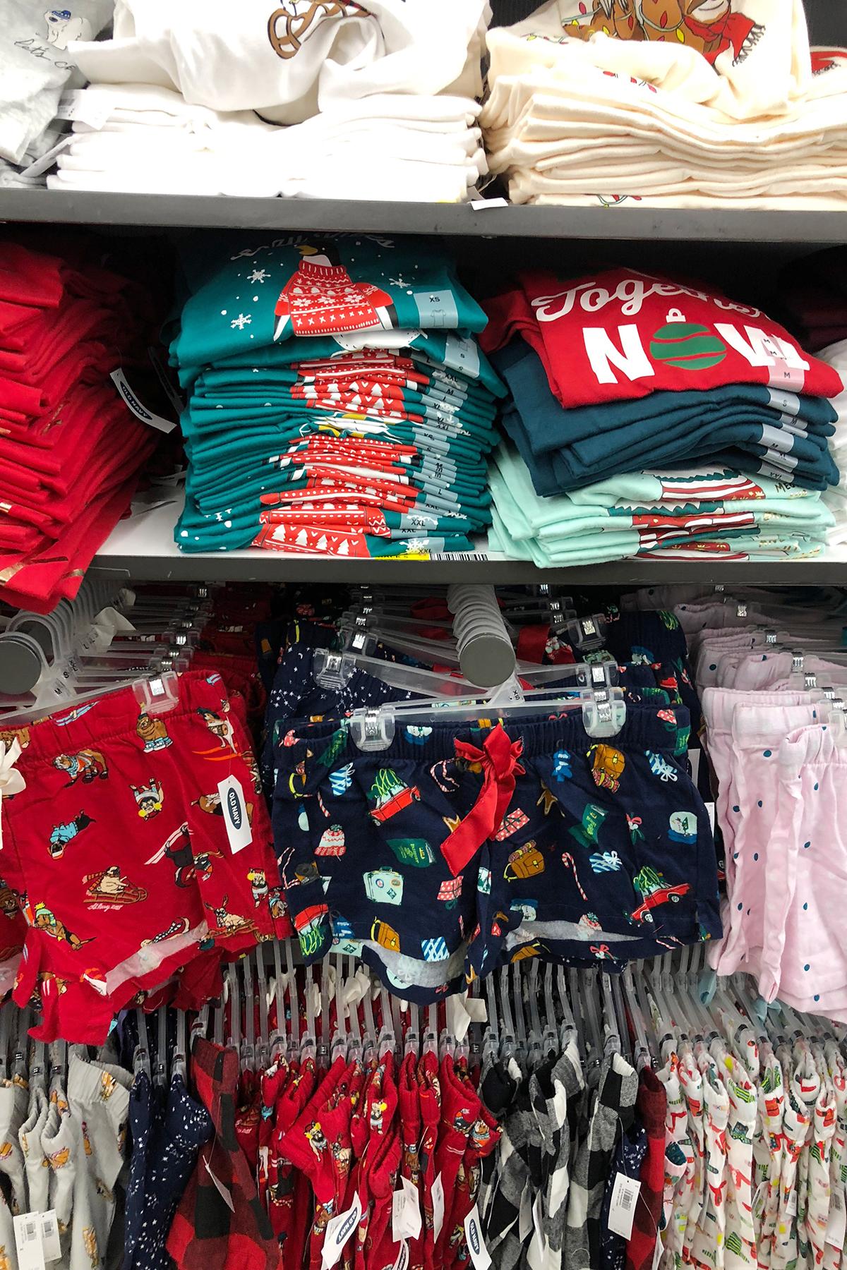 old navy Christmas pajamas on sale