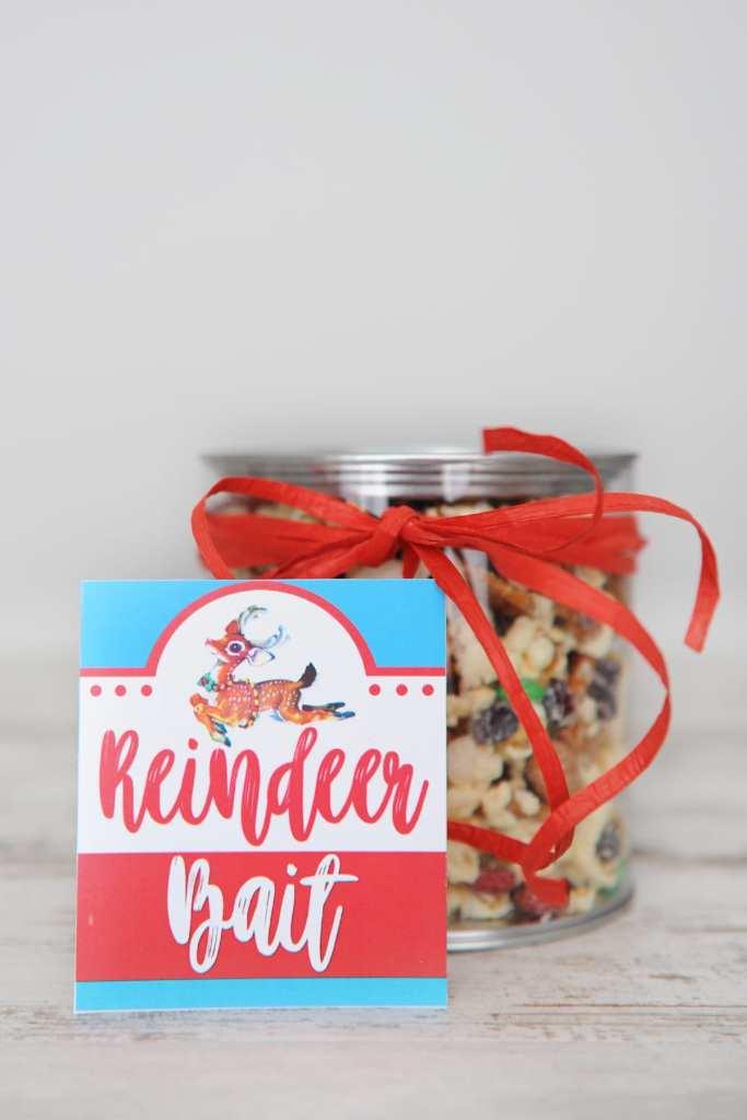 Free Christmas Treat Tags Printable: Reindeer Bait