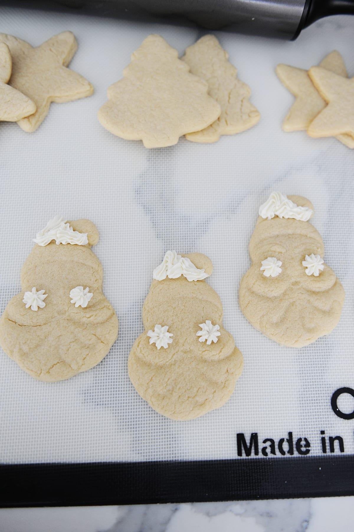Santa cookies diy
