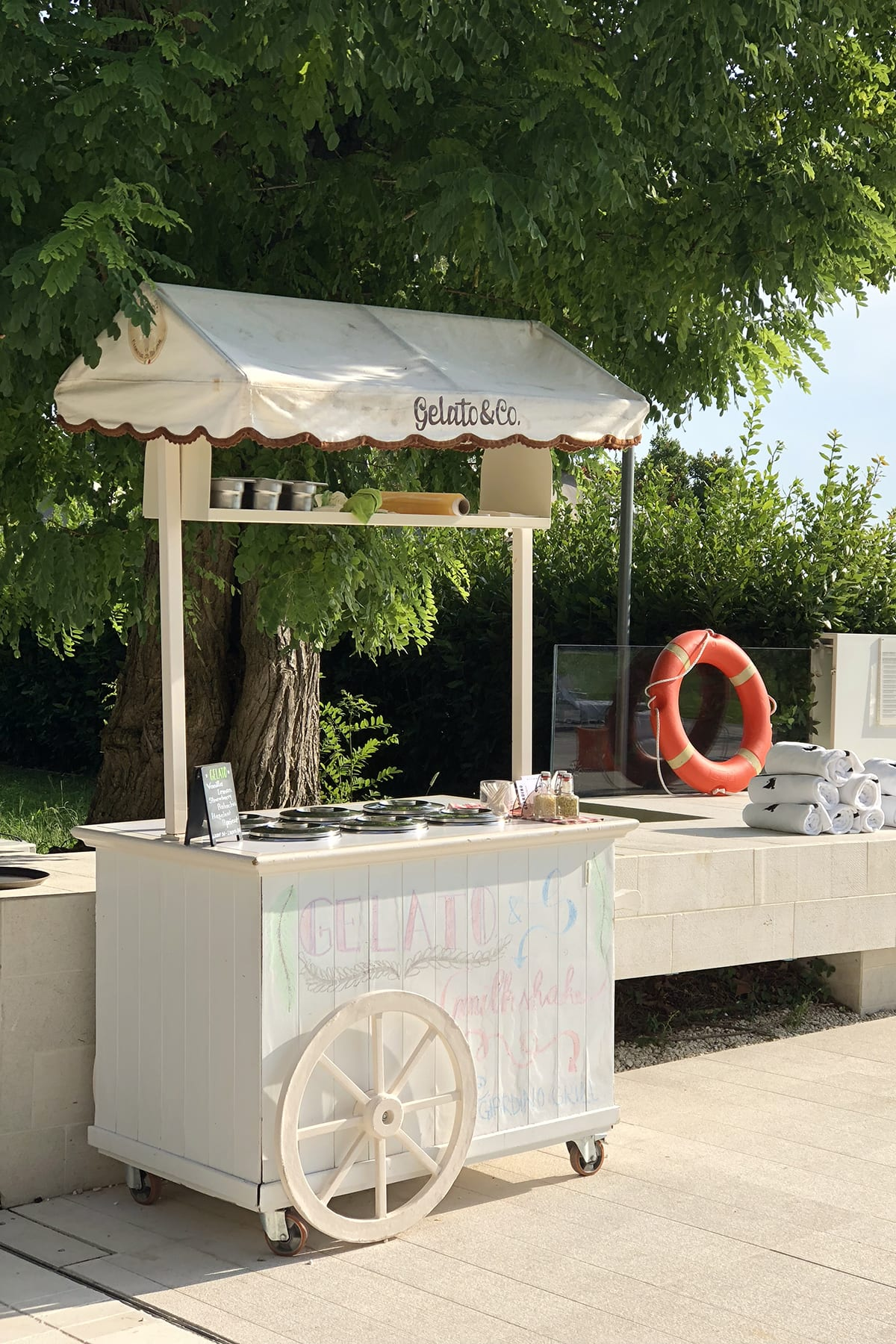 Jw marriott venice italy gelato cart