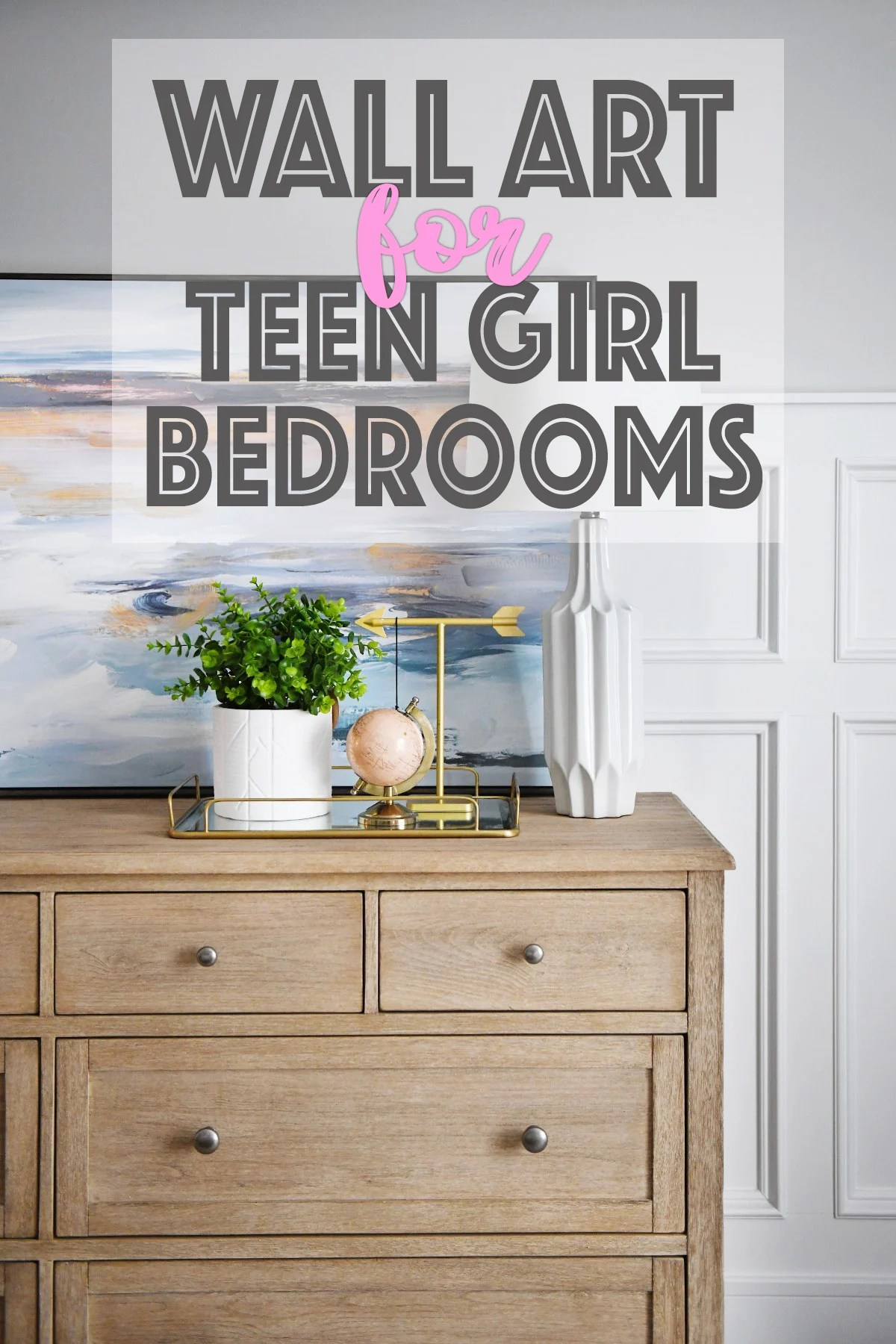 Wall art for teen girl bedrooms