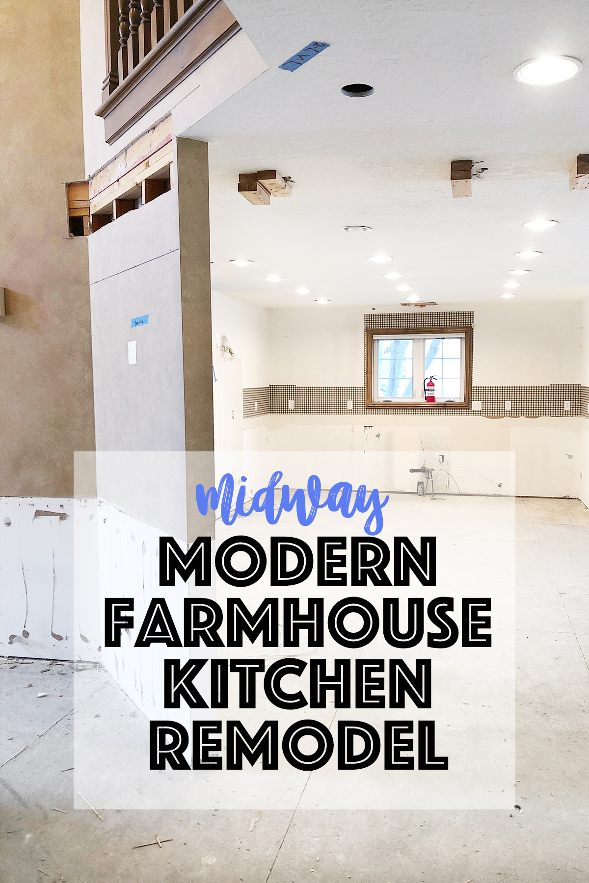 Kitchen Remodel Before and After Wall Removal: Midway Modern Farmhouse