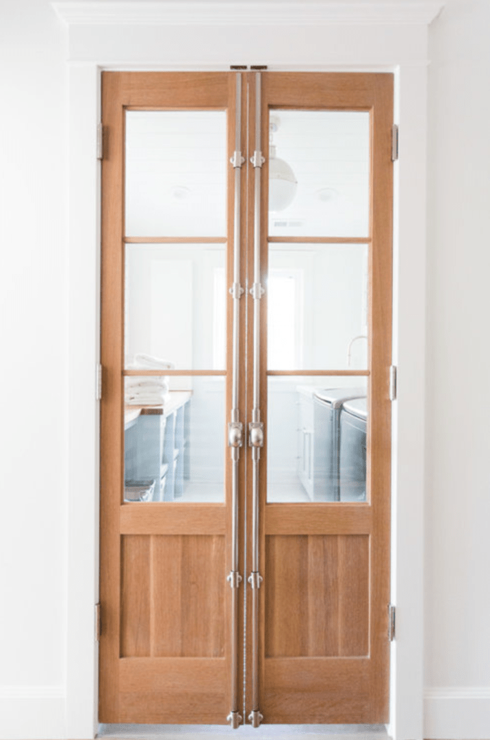 double pantry doors with glass