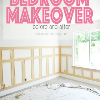 Bedroom makevoer before and after