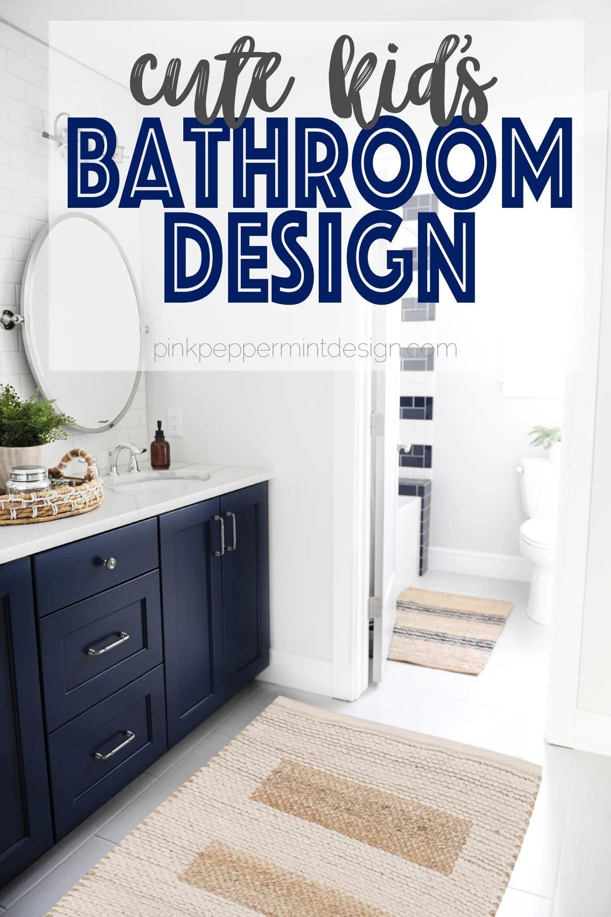 Kids Bathroom Design Ideas Kid S Bathroom Makeover Reveal Pink Peppermint Design
