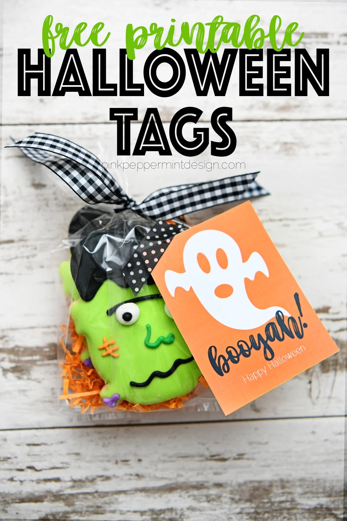 Adorable Free Printable Halloween Tags for Booing Friends and Neighbors : Booyah!