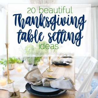 Thanksgiving table settings ideas