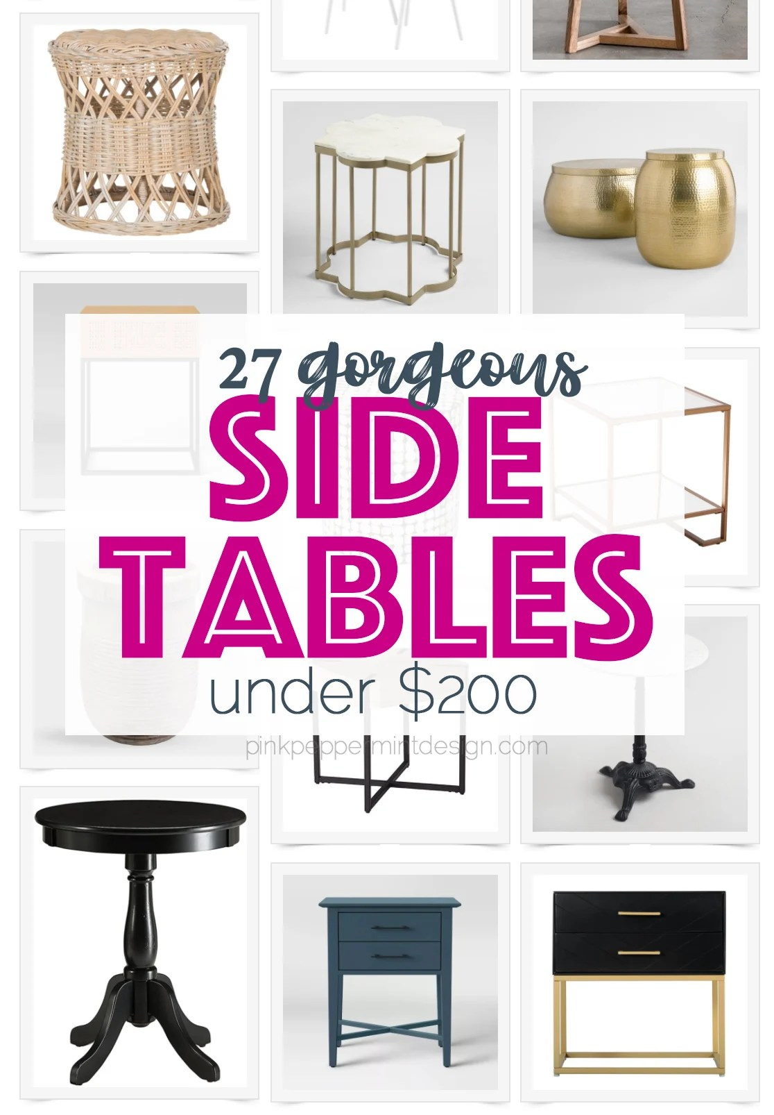 27 Great Side Tables for Under $200