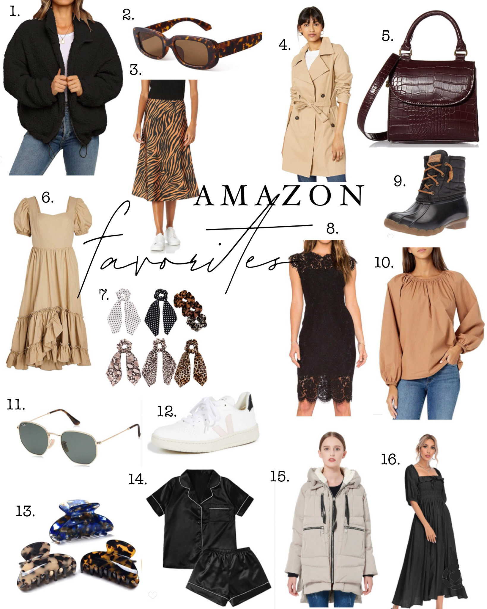 Amazon fashion favorites numbered