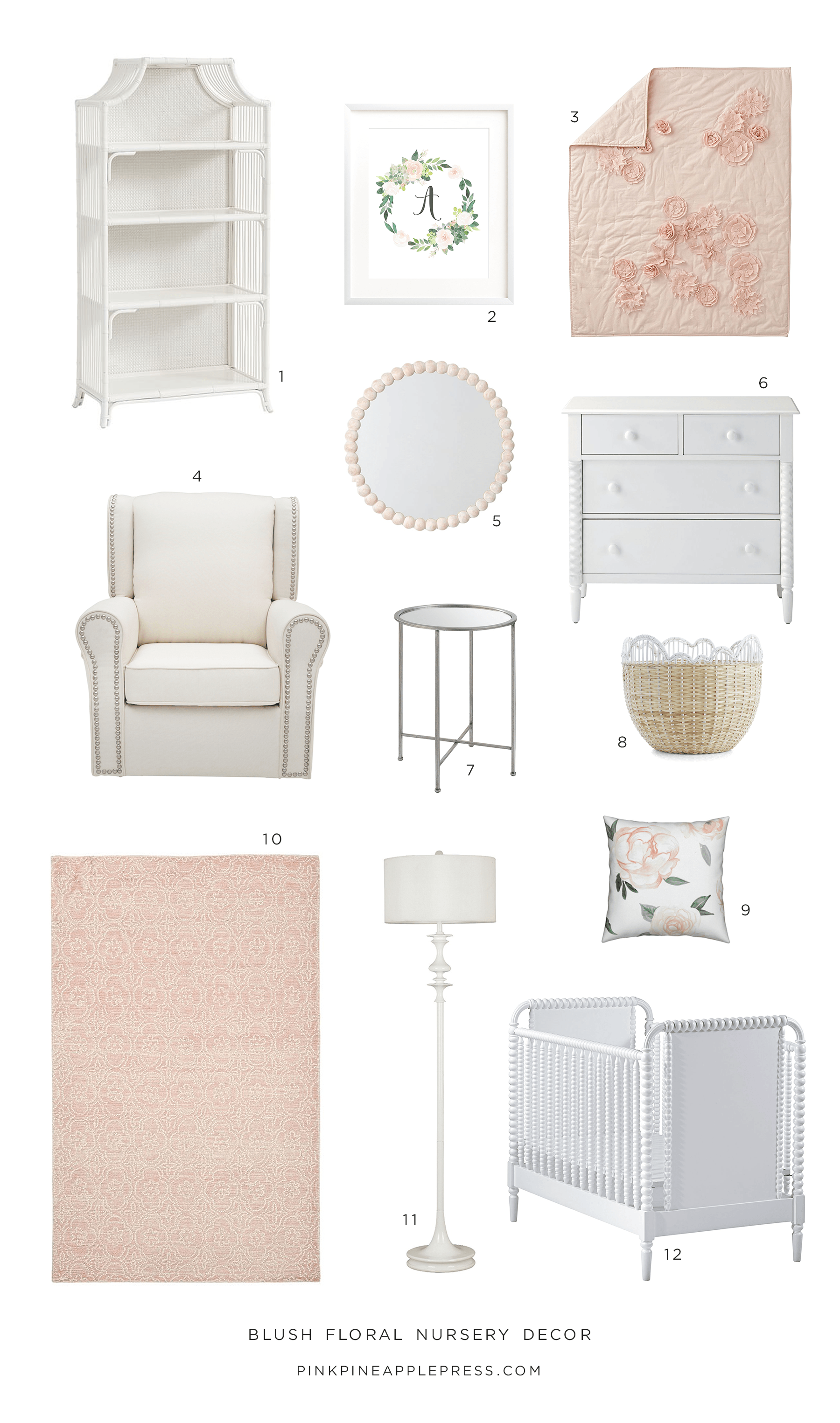 Blush Floral Nursery Decor Ideas