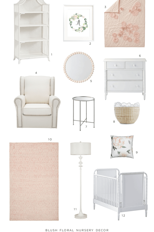 Blush Floral Nursery Decor Collection
