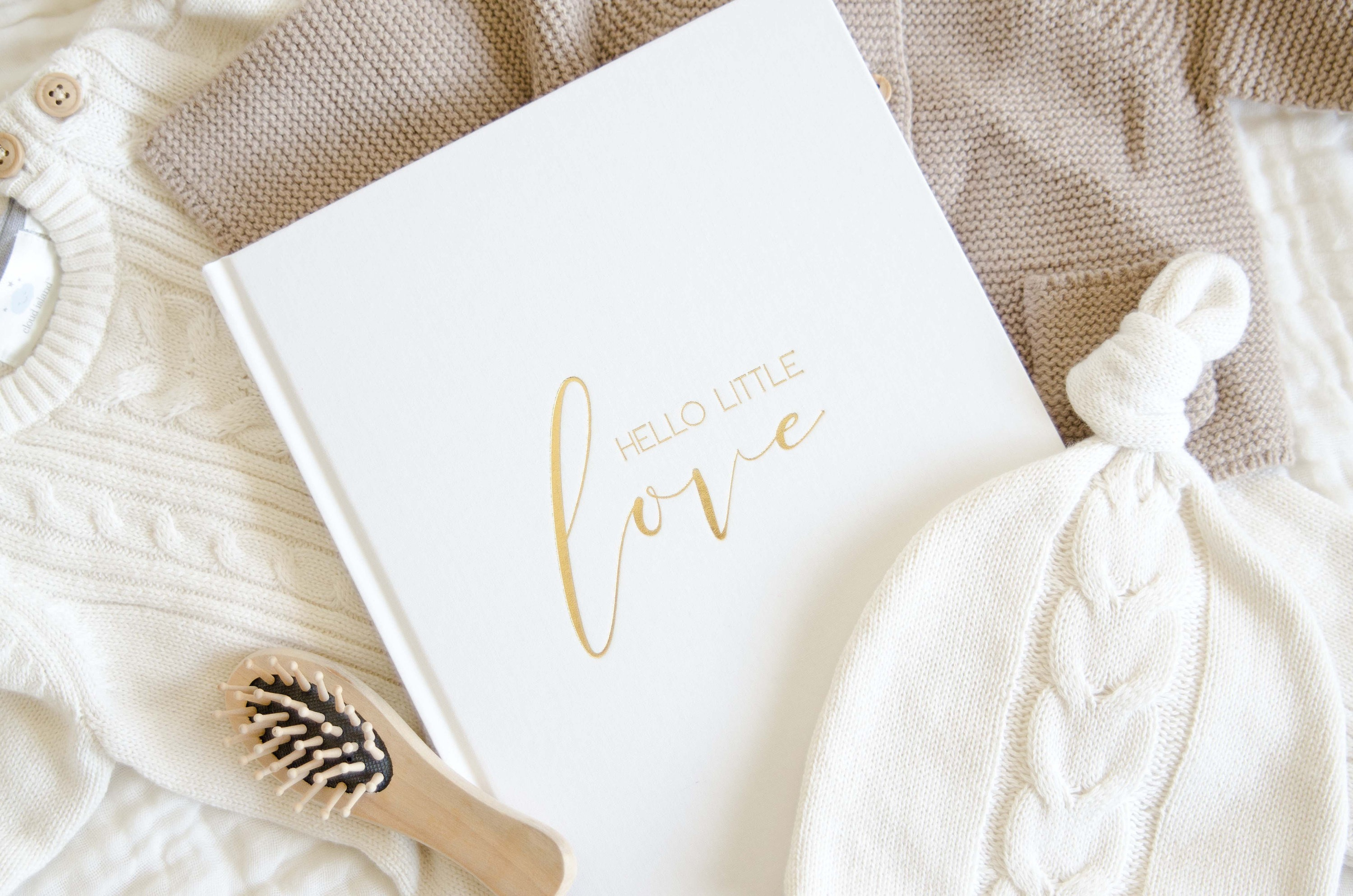 """""""Hello Little Love"""" Baby Memory Book by BlossomAndPear for Baby Girl Shower Gift Ideas"""