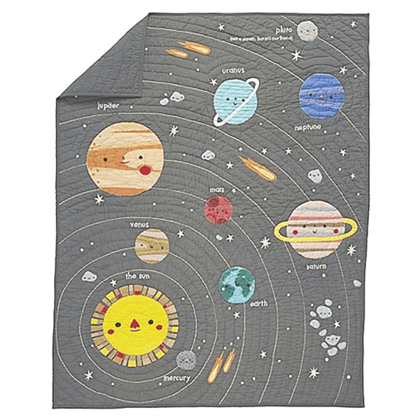 Outer Space Crib Quilt