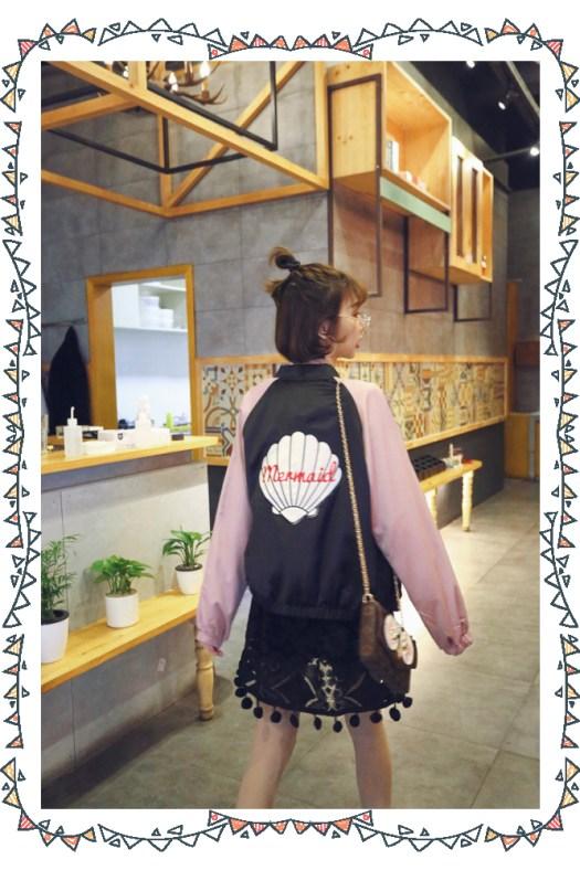 橫須賀外套、連身裙、貝殼