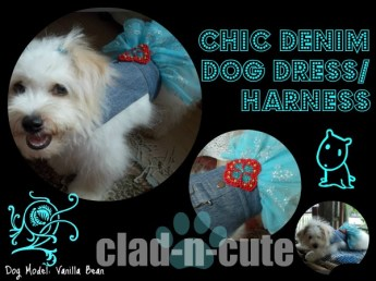 chic denim dog dress