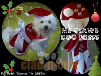 ms claws dog dress