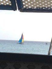 Sailboat on the sea