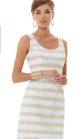 White and Gold Sheath Dress