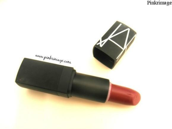 Nars afghan red lipstick review and swatches