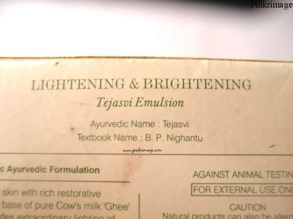 Forest Essentials Tejasvi Emusion night cream