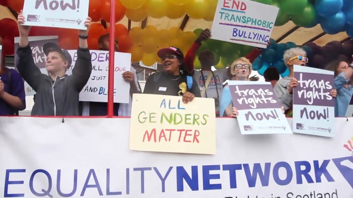 Equality Network float at Glasgow Pride