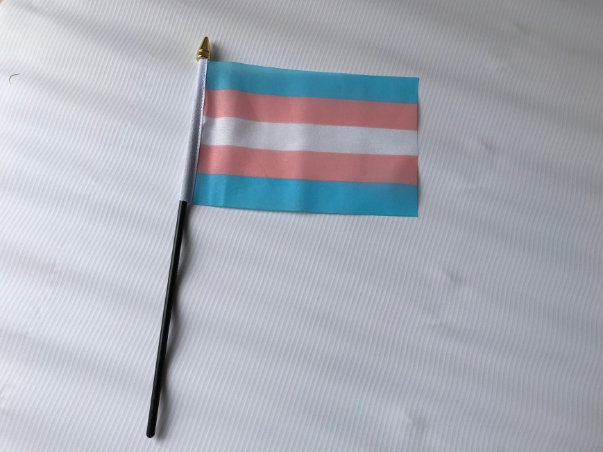 Transgender Hand Waving Flag