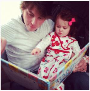 Ryan reading to Ava