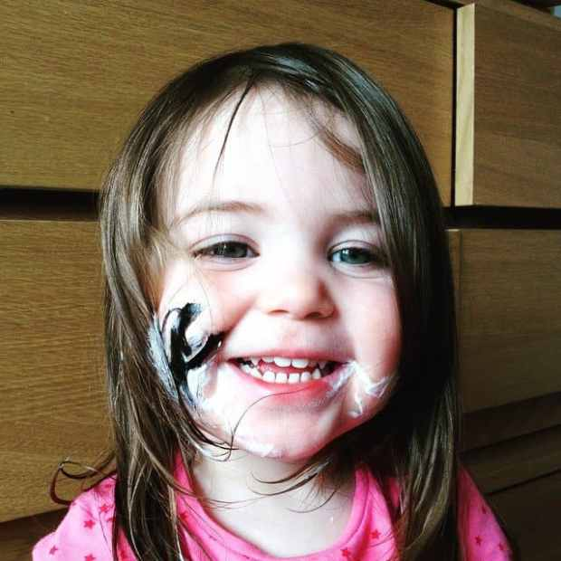 When Thea got into mummy's make-up