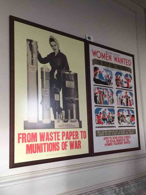 Vintage posters from WW2 at Upton House