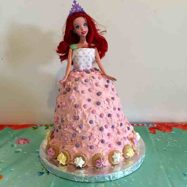 Finished Little Mermaid Cake