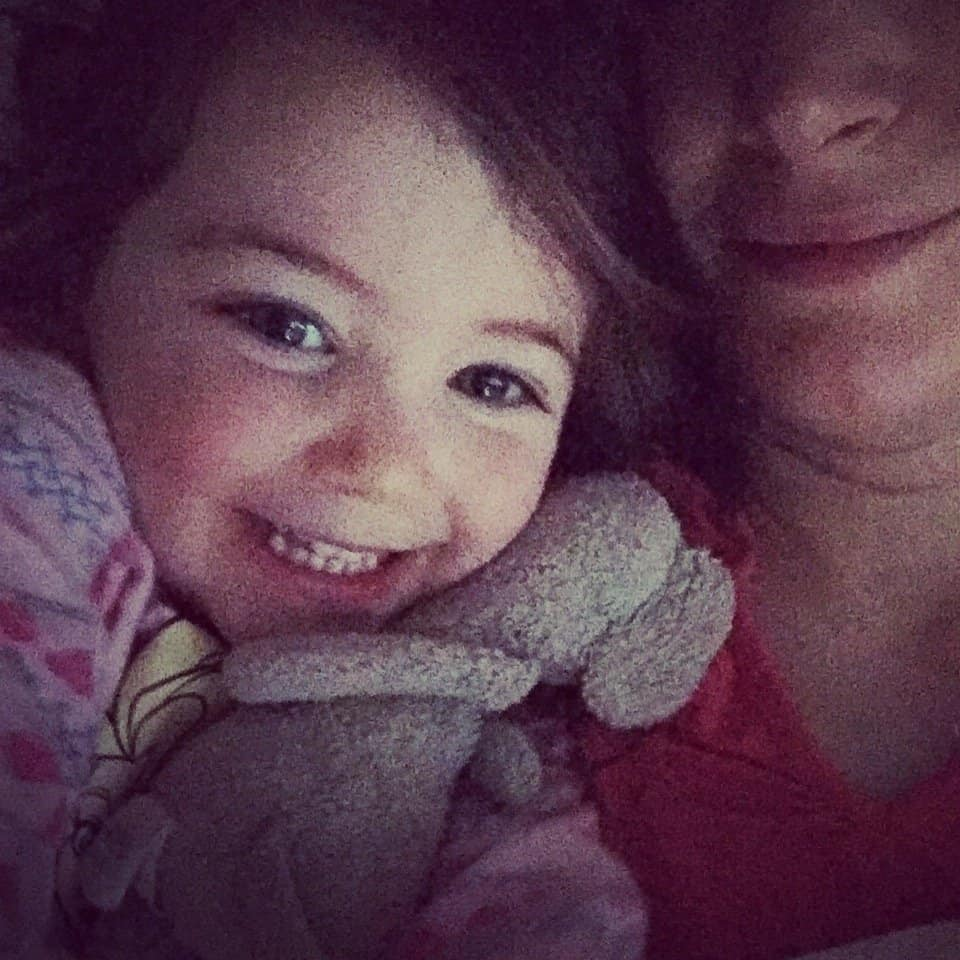 Thea and Mummy early in the morning