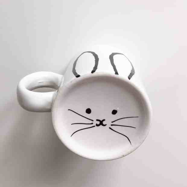 Bunny monochrome mug from the Berylune Craft Party