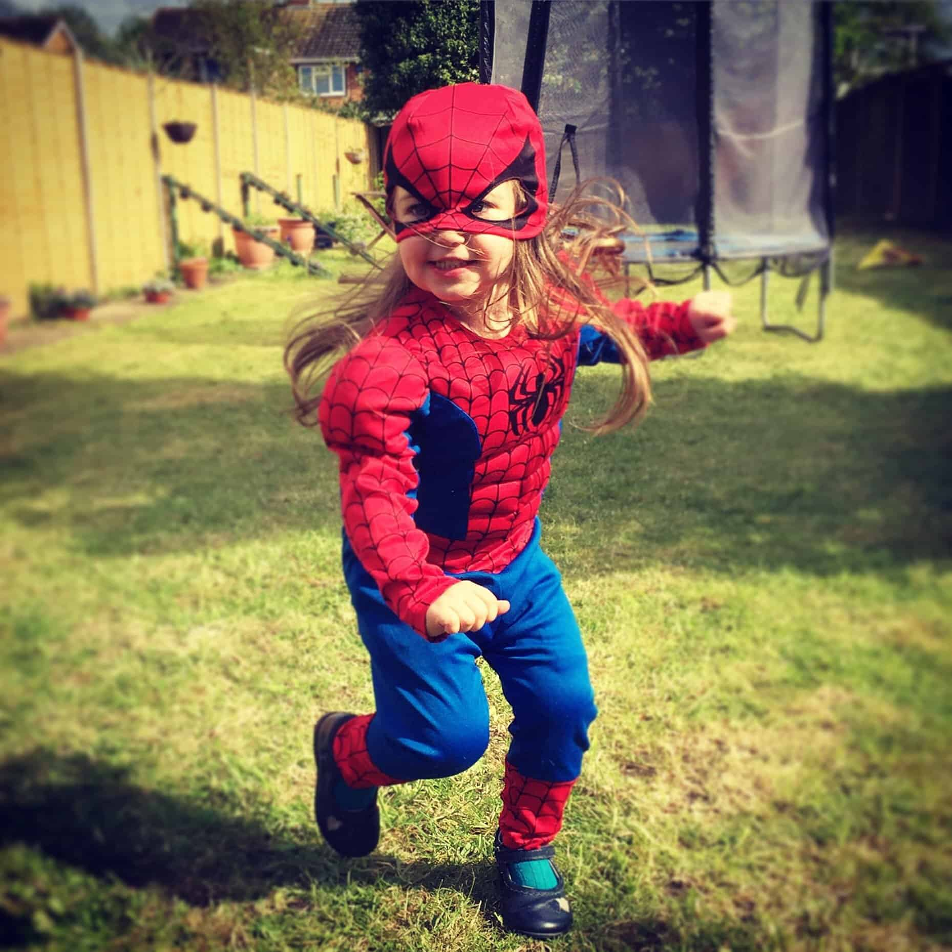 Thea as Spiderman