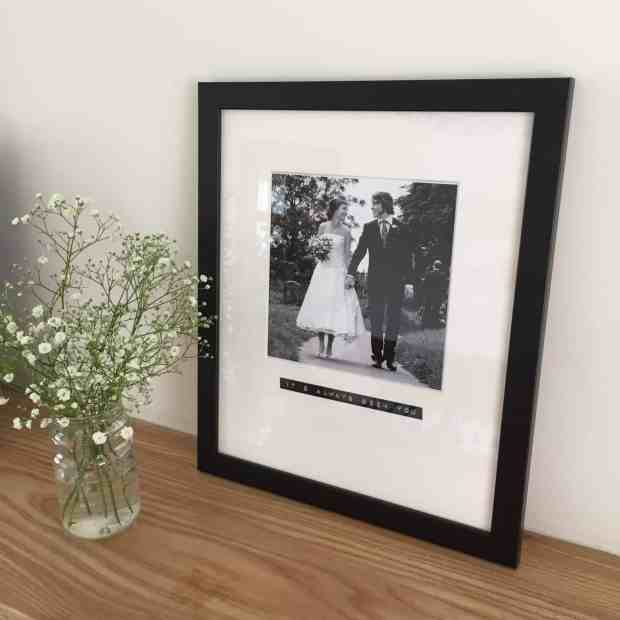 Wedding Picture from Bespoke & Oak Co with flowers