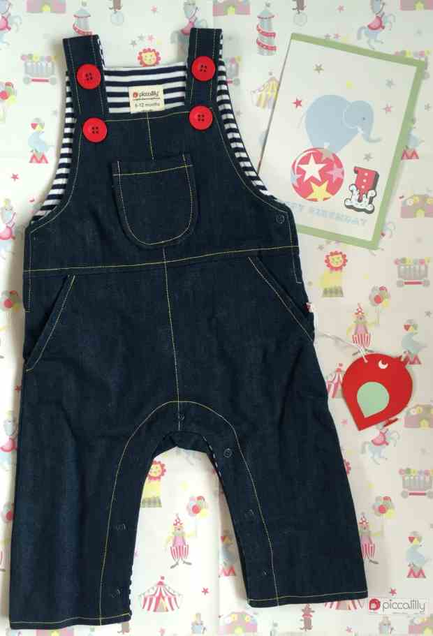 Piccalilly organic denim dungarees