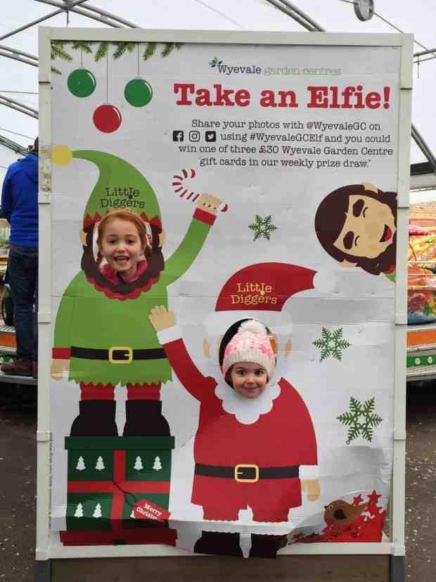 Taking a Elfie at the World's End Winter Wonderland