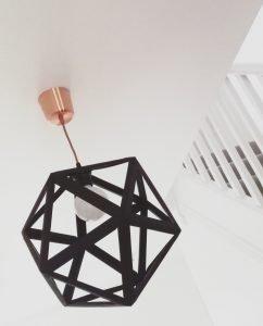 Black origami-Est lampshade